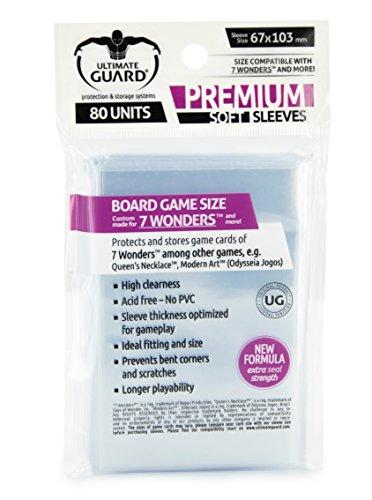 Ultimate Guard UGD010278 - Premium Sleeves für Brettspielkarten 7 Wonders™ 80
