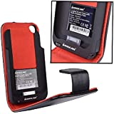 IOGear GMP2001P Leather Power Case with Built-In Battery Pack for iPhone 3G/3GS (Black/Red)
