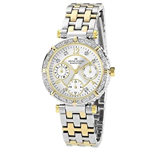 Anne Klein Womens 10/9847SVTT Swarovski Crystal Accented Multifunction Two-Tone Watch