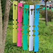 100 PVC Tree ID Tags Identification Labels Markers For Plants Pots Garden White
