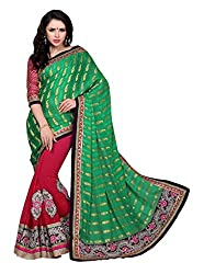 Vastram Online Shop Women's Chiffon Saree (Tithi-10_Multicolor)