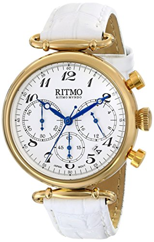 Ritmo-Mundo-Unisex-7034-YG-White-Corinthian-Analog-Display-Quartz-White-Watch