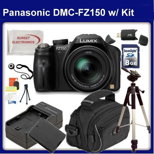 Panasonic DMC-FZ150 Digital Camera with SSE Gift Package (Black)