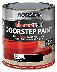 Ronseal DHDSPB750 750ml Diamond Hard Doorstep Paint - Black
