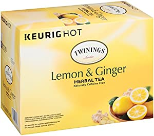 Twinings Lemon and Ginger Herbal Tea, Keurig K-Cups, 24 Count