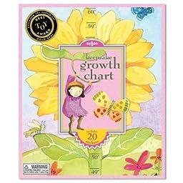 eeBoo Sunflower Growth Chart