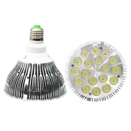 Eyourlife 2Pcs Par38 Cree Dimmable Led White Spotlight Bulb 18X2W 1900-2020Lm 120 Degree Beam Angle