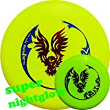 Eurodisc 175g Nite-Glow Ultimate Frisbee Competition Disc - Creature - YELLOW NIGHTGLOW