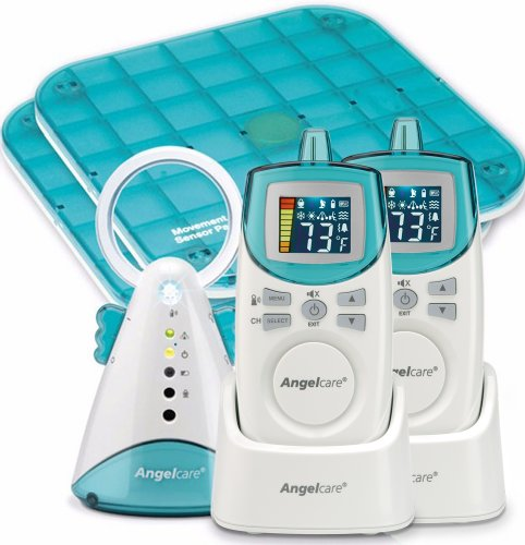 Best Price! Angelcare Movement and Sound Monitor Deluxe Plus, Auqa/White