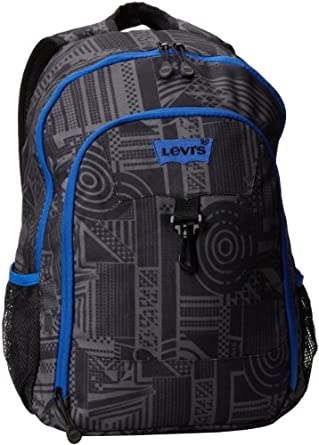 Amazon.com: Levi's Big Boys' Railer Backpack, Black/Blue