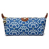 Apple & Bee Compact Cosmetic Case - Lotus Blue