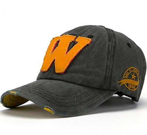 Thenice Cappellini da baseball Unisex Regolabile Berretto Cap (Nero)