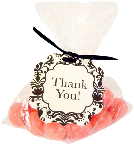 """Bella Cupcake Couture 8-Pack Hang Tags, Lu Lu Black And White """"Thank You"""" front-169736"""