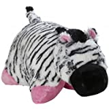 My Pillow Pet Zebra - Large (Black, White & Pink)