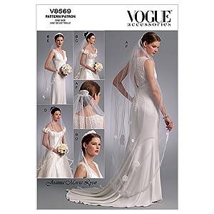 Vogue Patterns Headpieces Tiara and Bridal Veil - Lesbian Wedding Veil