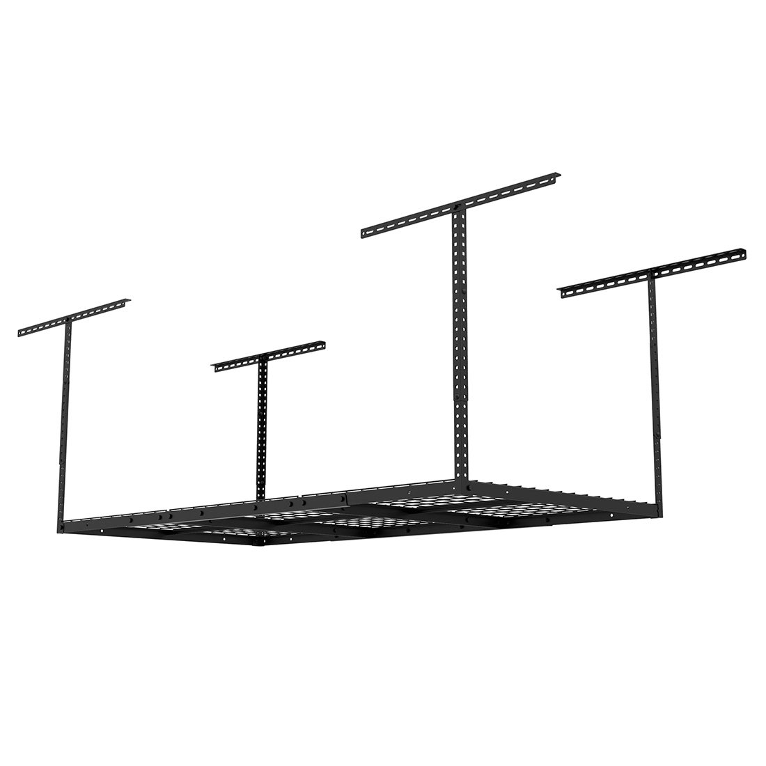 "FLEXIMOUNTS 3x6 Overhead Garage Storage Adjustable Ceiling Storage Rack, 72"" Length x 36"" Width x 40"" Height, Black"
