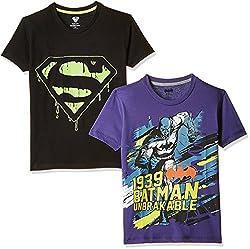 Kidsville Boys' T-Shirt (SP1KB05_Multi_11 - 12 years) (Combo Pack - 2)