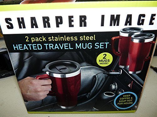 sharper-image-2-pack-stainless-steel-heated-travel-mug-set-by-sharper-image