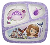 Zak Designs Sofia The First 3-Section Plate