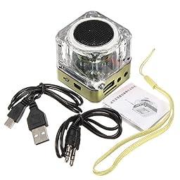 Portable Mini Digital Speaker (Green TT-028)