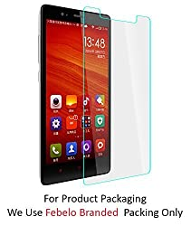 Febelo Branded 2.5D Crystal Clear 9H Curve Edge Tempered Glass Screen Protector For Xiaomi Redmi Note Prime