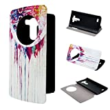 LG G3 Case Leathlux View Window Painting Art Dream Catcher Style Design PU Leather Flip Stand Case Cover For LG G3