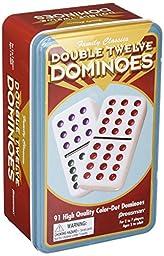 Pressman Double 12 Color Dot Dominos In A Tin