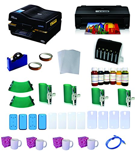 3D Pro Sublimation Heat Press Machine Epson 1430 Printer CISS KIT (3d Printer Press compare prices)