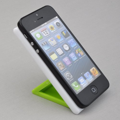 "Phone stand with non slip pad to keep phone in place, Choose Blue or Green, 2.25"" x 4.50"" (Green)"