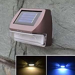 LED Solar Powered Wall Light Outdoor Landscape Garden Lawn
