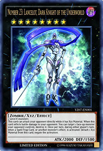 YuGiOh Number 23: Lancelot Dark Knight of the Underworld - YZ07-EN001 - Ultra Rare - Limited Edition (Yugioh Number 23 compare prices)