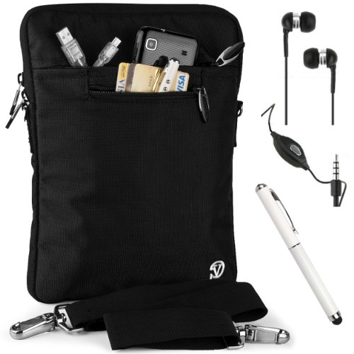 Lightweight Nylon Carrying Case For Samsung Galaxy Note Pro 12.2 + Handsfree Earphones + Stylus