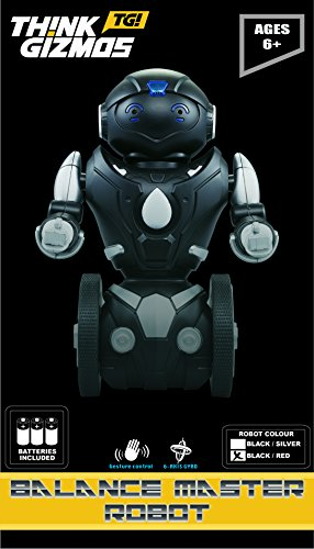 Remote-Control-Balance-Robot-Toy-for-Kids-TG634-S-Black-Silver-Version-2-Smart-Interactive-RC-Robot-By-ThinkGizmos-Trademark-Protected