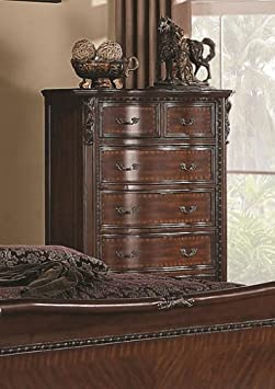 Maddison Chest of Drawers w/ Carved Wood Detailing