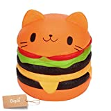 Jumbo Slow Rising Squishies Charms Kawaii Squishies Cream Scented Toys For Kids and Adults (Buger)