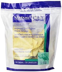C.E.T. Enzymatic Oral Hygiene Chews, Medium-Size Dogs, 30 Chews