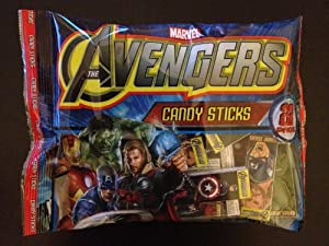 The Avengers Candy Sticks: Bag of 22 packs (2 sticks/pack)