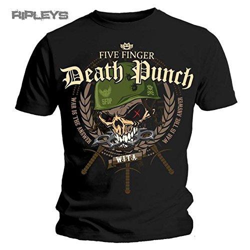 Maglietta ufficiale FIVE FINGER DEATH PUNCH Warhead USA nero XX-Large