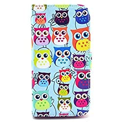 Lurashop Luxury Cute Wallet Case Lg G2 D802 Wallet Case with Built-in Card Slots & Stand Flip Leather Protective Wallet Case Cover for Lg G2 D802 (Owls)
