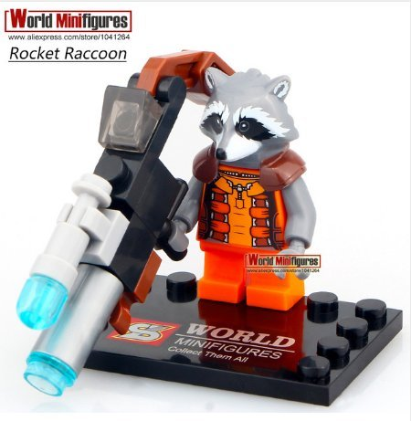 Rocket Raccoon Single Sale Minifigures Building Kids Guardians of Galaxy Groot Toys Best (Without Box ) (Guardians Of The Galaxy Trailer compare prices)