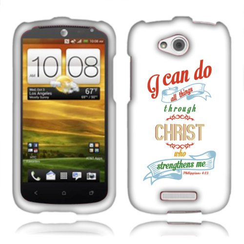 Click to buy Fincibo (TM) HTC One VX PM36100 Protector Cover Case Snap On - Christian Bible Verse Philippians 4:13, Front And Back - From only $32.57