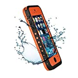 Iphone 5C IPX68 Waterproof Case Cover,Nika shop Series Untra Full Body Armor Heavy Duty hockproof Dustproof Sweatproof, Dirtproof Snowproof Snow Proof Durable Protective Hard Shell Cover Case With Built-In Ultra Clear Screen Protector For iphone 5C Verizon, AT&T Sprint, T-mobile, Unlocked - Retail Packaging (Nika shop-Orange)