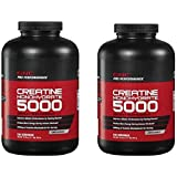 Creatine Monohydrate 5000 Dietary Supplement, 100 Servings Per Container, Unflavored, Twin Pack = Total 200 Servings!!