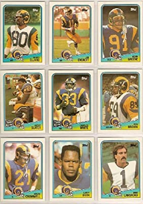 Los Angeles Rams (6) Football Team Sets (1988 Topps) (1989 Score) (1990 Fleer) (1990 Topps) (1991 Upper Deck) (1991 Pinnacle) (Kevin Greene Rookie) (Jim Everett) (Cleveland Gary) (Flipper Anderson) (Henry Ellard) (Marcus Dupree) (Irv Pankey) (Tom Newberry