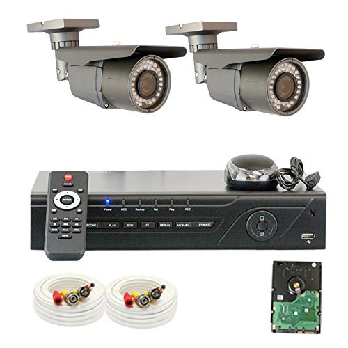 "Professional 4 Channel H.264 960H & D1 Realtime Dvr With 2 X 1/3"" Exview Had Ccd Ii With Effio-E Dsp Devices Camera. 700 Tv Lines, 2.8~12Mm Varifocal Lens, 42Pcs Ir Led, 115 Ft Ir Distance"