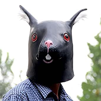 Deluxe Rubber Rabbit Mask for Halloween Cosplay Costume Party