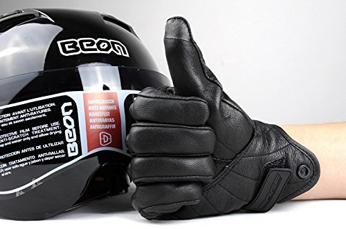 Size L Retro Motorcycle racing gloves Motocross Waterproof Moto full finger glove Windproof leather Touch gloves 4