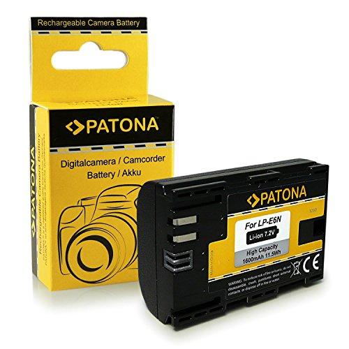 Batteria LP-E6 | LP-E6N per Canon EOS 5D | 5D Mark II | 5D Mark III | 5DS | 5DS R | 60D | 60Da | 6D | 70D | 7D | 7D Mark II | 80D | Mark II | Mark III | R 5D | XC10