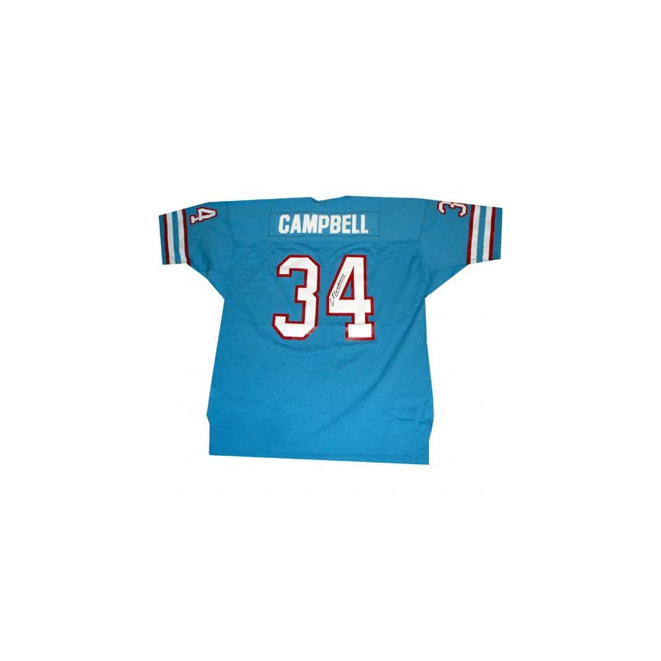 b7c61587f Earl Campbell Houston Oilers Autographed Blue Jersey on PopScreen