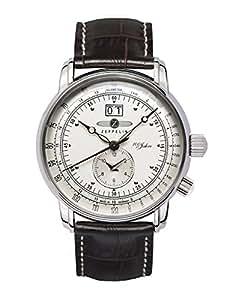 Zeppelin Herren-Armbanduhr XL Analog Quarz Leder 76401